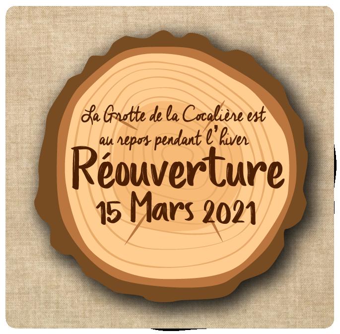 Réouverture : 15 Mars 2021